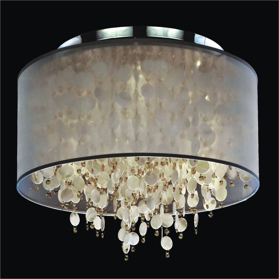 Flush Mount Drum Shade | Seaside Dreams 578 by GLOW Lighting