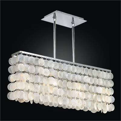 Shell chandelier coastal beach house shop glow lighting rectangular capiz shell chandelier surfside 637 aloadofball Choice Image