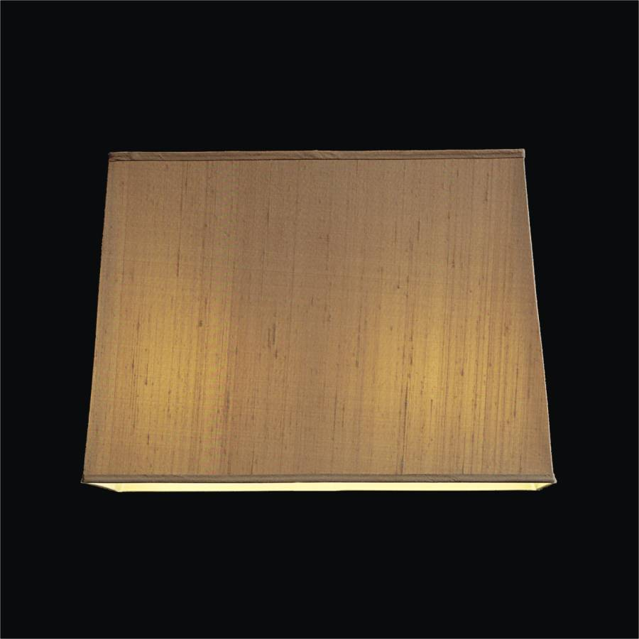 Tapered rectangular dupioni silk lamp shades glow lighting tapered lamp silk shade by glow lighting aloadofball Image collections