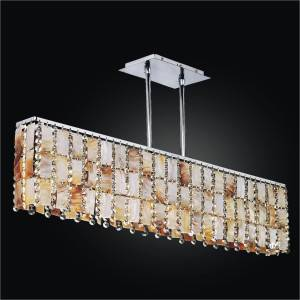Oyster Shell Chandelier - Rectangular Chandelier | Tropical Paradise 632 by GLOW Lighting