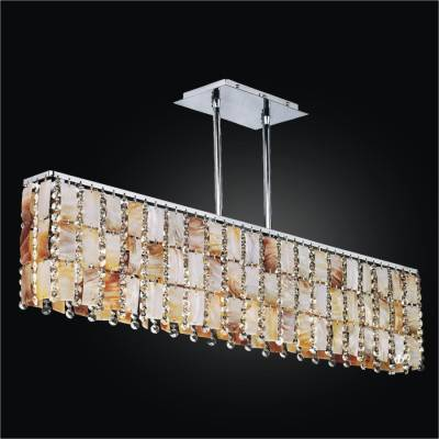 Oyster Shell Chandelier – Rectangular Chandelier | Tropical Paradise 632