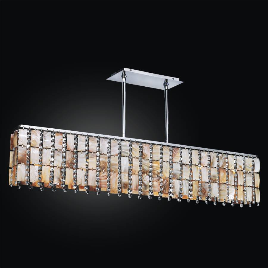 Oyster Shell Chandelier – Rectangular Chandelier | Tropical Paradise 632YM6LSP-7C