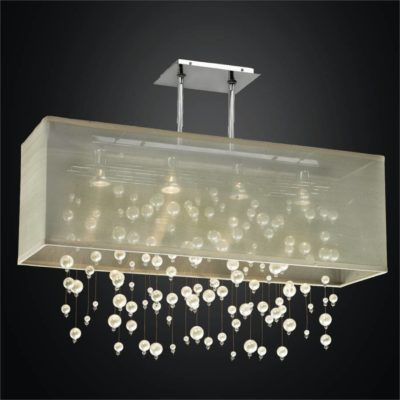 Beaded Chandelier – Rectangular Shade Chandelier | Veneto 647
