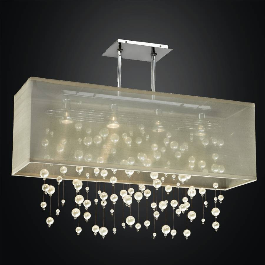 Beaded Chandelier - Rectangular Shade Chandelier | Veneto 647 by GLOW Lighting