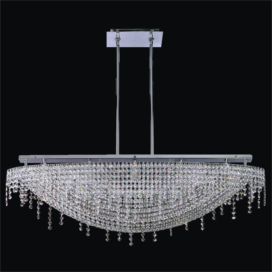 Crystal Island Chandelier | Arc 573 by GLOW Lighting