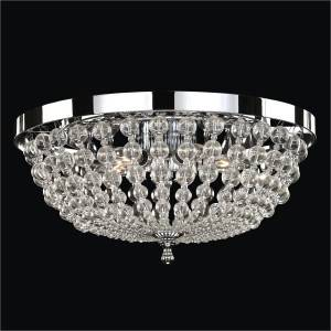 Beaded Flush Mount Ceiling Light | Arcadia 612 by GLOW Lighting