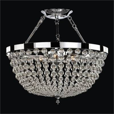 Semi-Flush Mount Basket with Smooth Beads | Arcadia 612