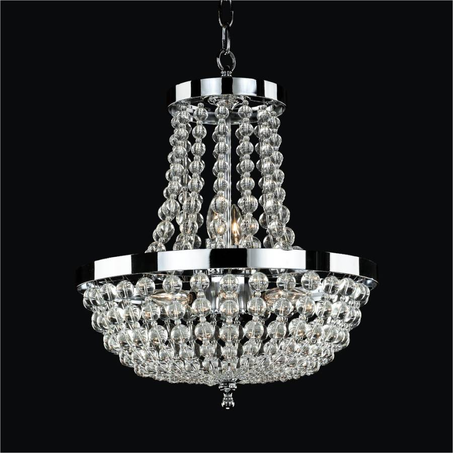 Clear Beaded Chandelier | Arcadia 612 by GLOW Lighting