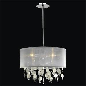 Capiz Drum Chandelier | Around Town 005K by GLOW Lighting