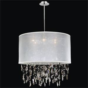 Large Drum Shade Chandelier | Around Town 005M by GLOW Lighting
