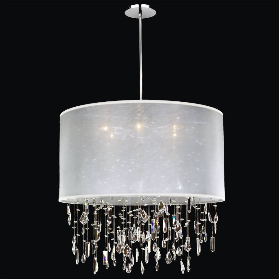 Large drum shade chandelier crystal drop chandelier around town large drum shade chandelier crystal drop chandelier around town 005 by glow lighting mozeypictures Gallery