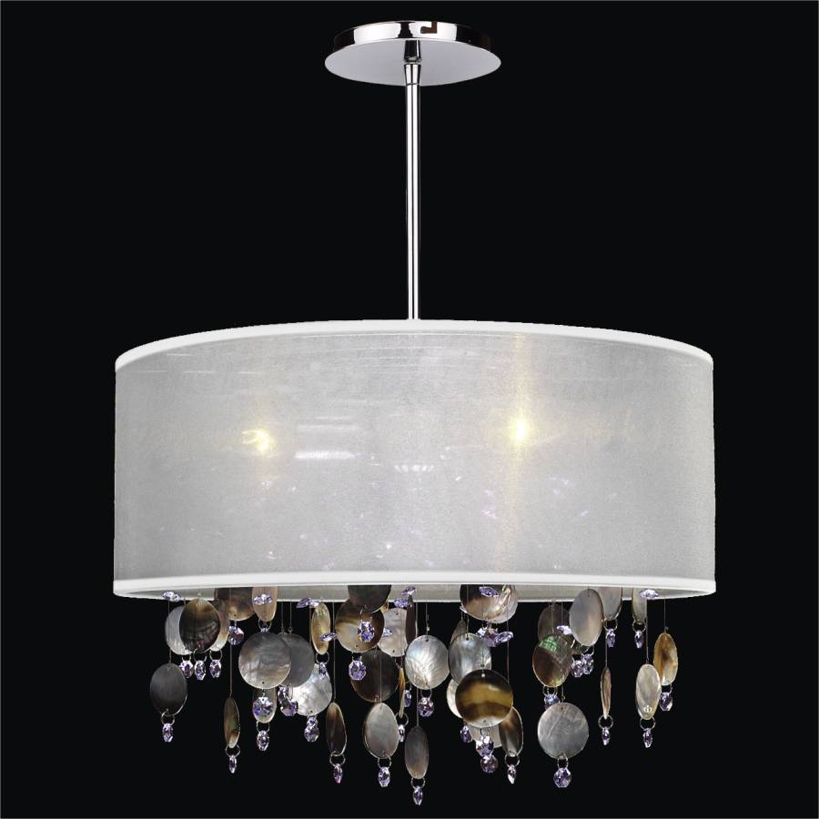 Drum Shade Chandelier   Mother Of Pearl Chandelier | Around Town 005