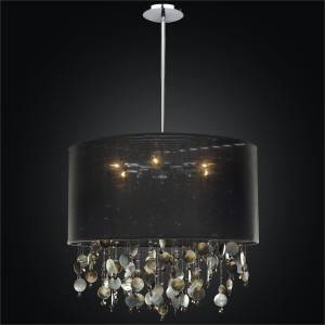 Large Drum Shade Pendant | Around Town 005P by GLOW Lighting