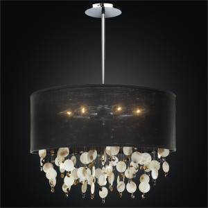 Large Drum Shade Pendant Chandelier | Around Town 005S by GLOW® Lighting