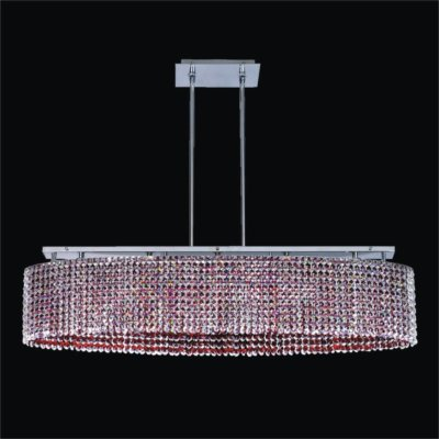 Oval Crystal Pendant Chandelier | Avalon 568
