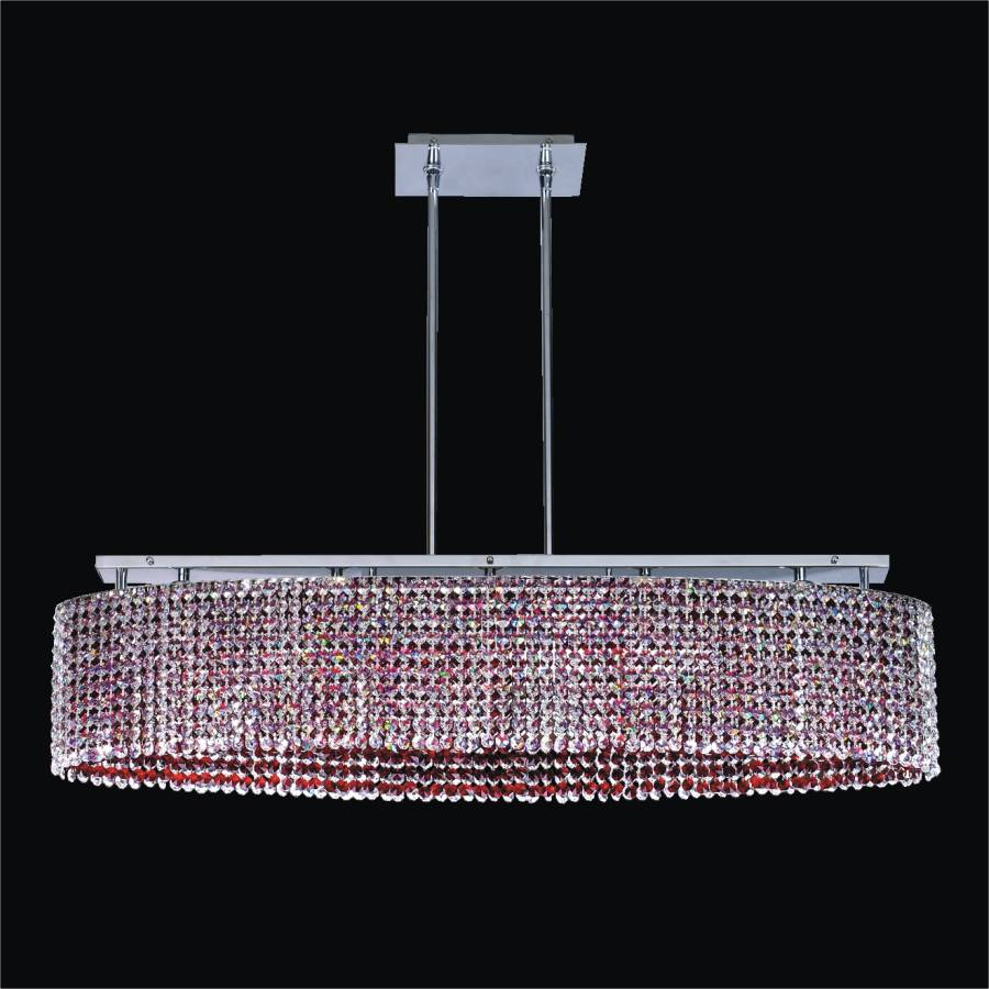 Oval Shaped Crystal Chandelier | Avalon 568 by GLOW Lighting