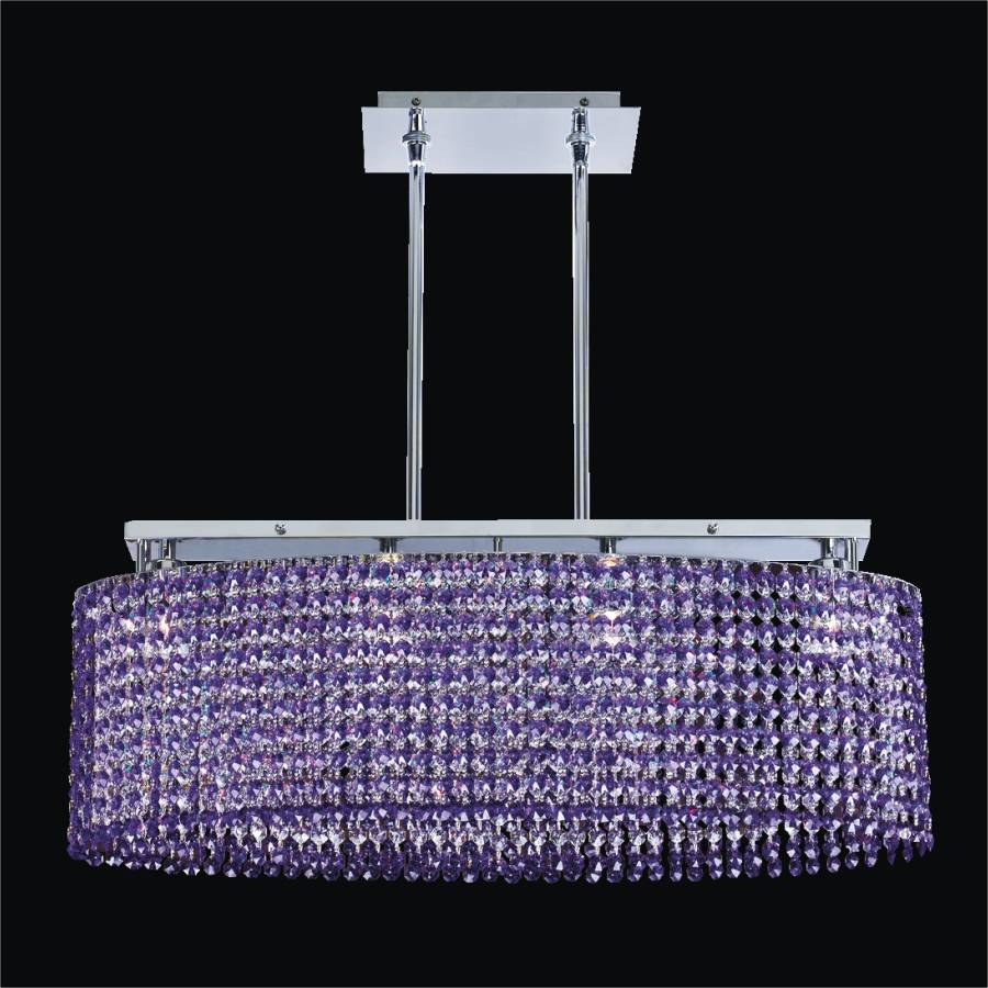 Oval Shaped Crystal Chandelier   Avalon 568 by GLOW Lighting