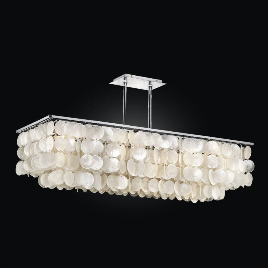 Rectangular Capiz Chandelier | Bay Breeze 634 by GLOW Lighting