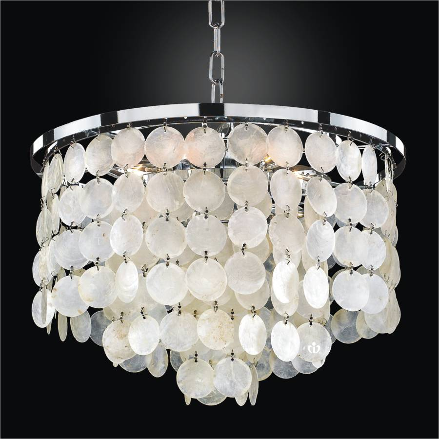 Capiz Shell Chandelier | Bayside 636 by GLOW Lighting