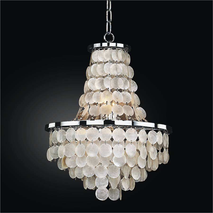 Capiz Shell Hanging Pendant | Bayside 636 by GLOW Lighting