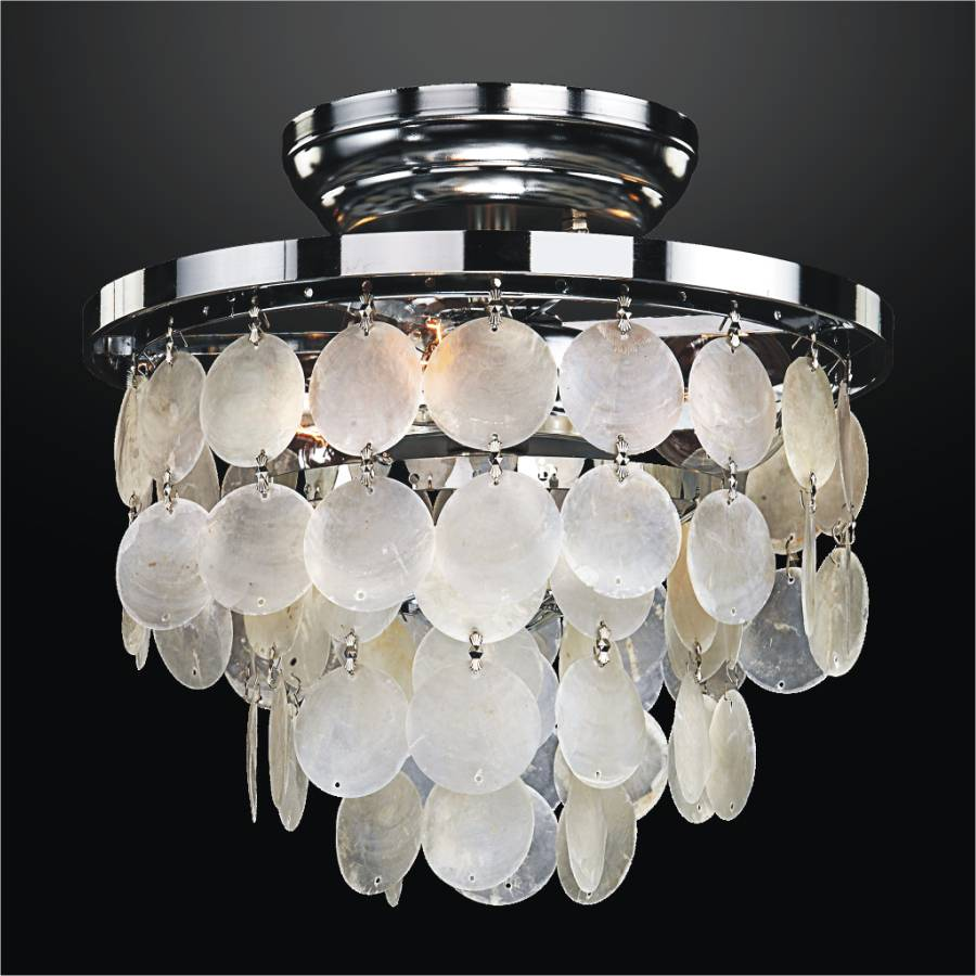 Capiz Shell Flush Mount Light | Bayside 636 by GLOW Lighting