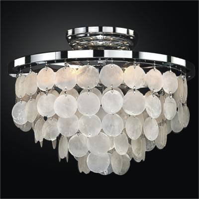 Capiz Shell Flush Mount Light | Bayside 636