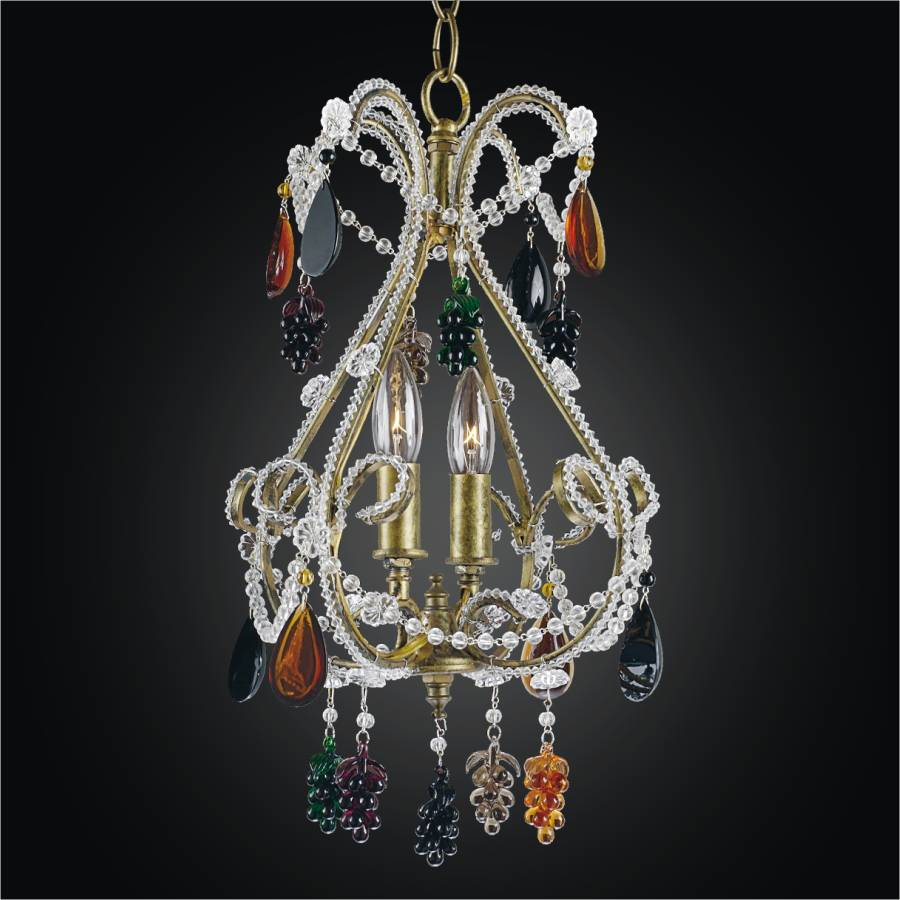 Whimsical Chandelier | Beaded Fantasy 559 by GLOW Lighting