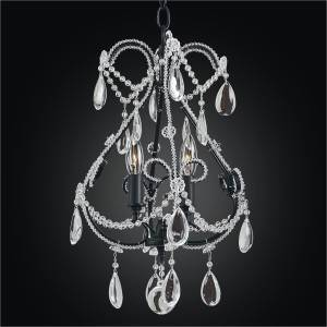 Beaded Crystal Mini Chandelier | Beaded Fantasy 559 by GLOW Lighting