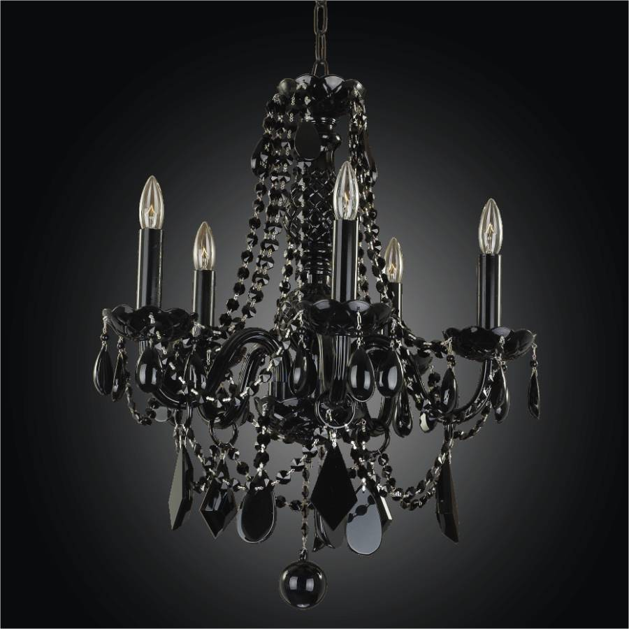 Black Tie Glow Crystal Arm Chandelier 583jd5lbk 7j