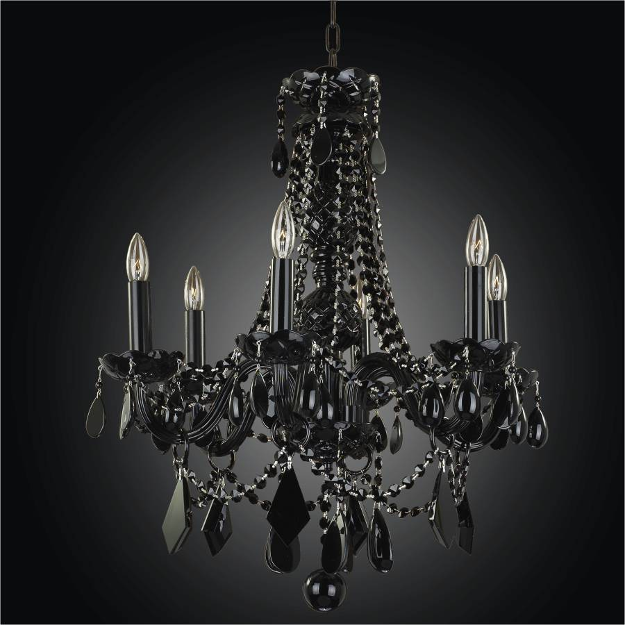 Black crystal chandeliers black tie 583 glow lighting - Lighting and chandeliers ...