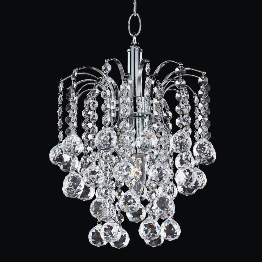 Small Crystal Chandelier | Cascade 532F by GLOW Lighting