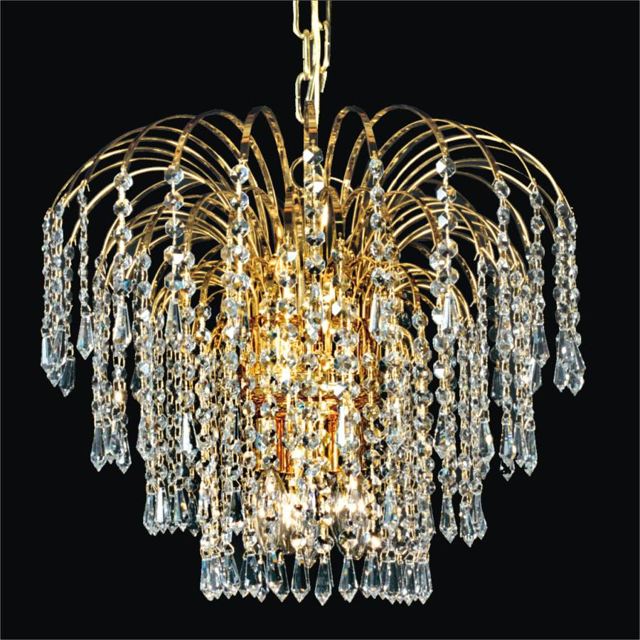 Waterfall Crystal Chandelier | Cascade 532T by GLOW Lighting