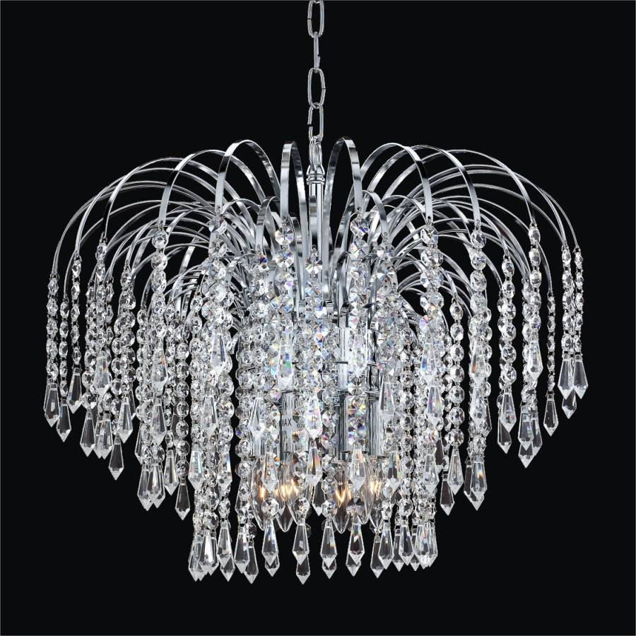 crystal flush mount chandelier. Cascade Crystal Pendant By GLOW Lighting Flush Mount Chandelier