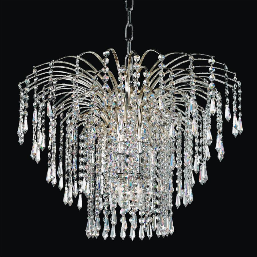 Cascade crystal pendant by GLOW Lighting