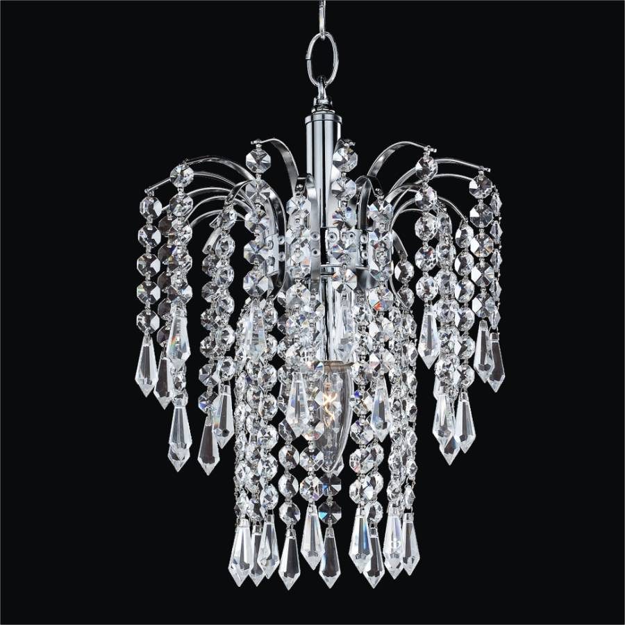 Mini Crystal Chandelier | Cascade 532T by GLOW Lighting