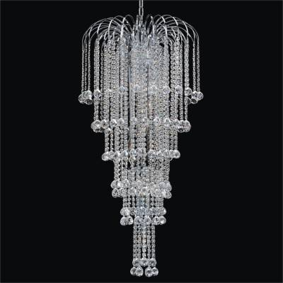 Faceted Ball Waterfall Grand Chandelier | Cascade 532F