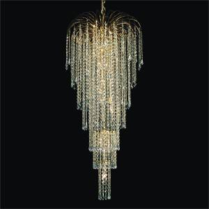 Entry Foyer Chandelier | Cascade 532T by GLOW Lighting