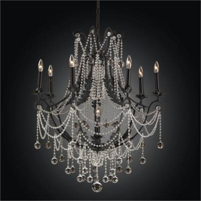 Estate Black Chandeliers | Chateau Chic 602