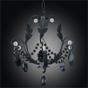 Small Black Chandelier | Chateau 554J by GLOW Lighting