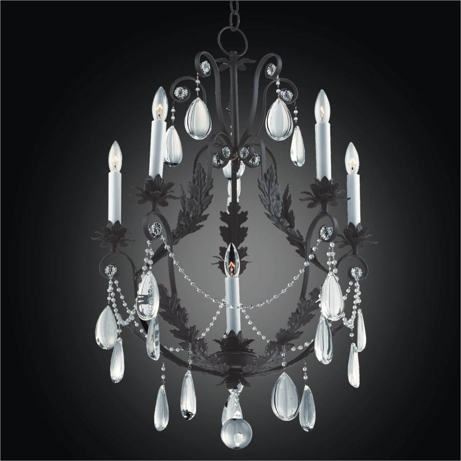 Wrought Iron and Crystal Chandelier | Chateau 554 by GLOW Lighting