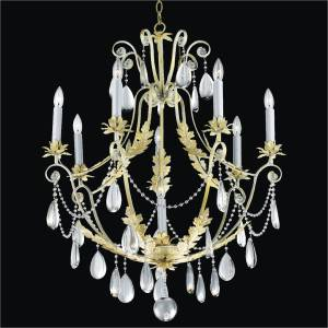 Rustic Crystal Chandelier | Chateau 554 by GLOW Lighting