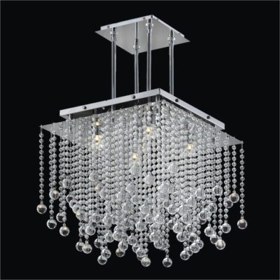 Square Chandelier Smooth Bead Trimming | Cityscape 598B