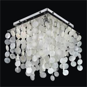 Capiz Shell Ceiling Light | Cityscape 598C by GLOW Lighting
