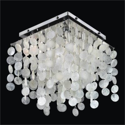 Square Capiz Shell Flush Mount | Cityscape 598