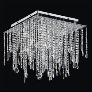 Crystal Ceiling Light Fixture | Cityscape 598 by GLOW Lighting