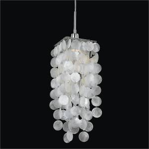 Capiz Shell Mini Pendant | Cityscape 598C by GLOW Lighting