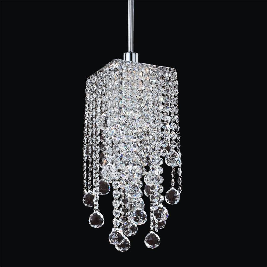 Crystal Mini Pendant Light | Cityscape 598F by GLOW Lighting
