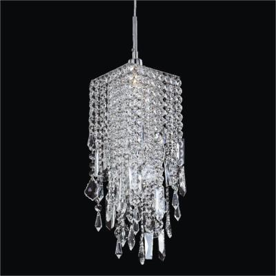Mini Pendant Assorted Shape Crystal Trim |Cityscape 598M