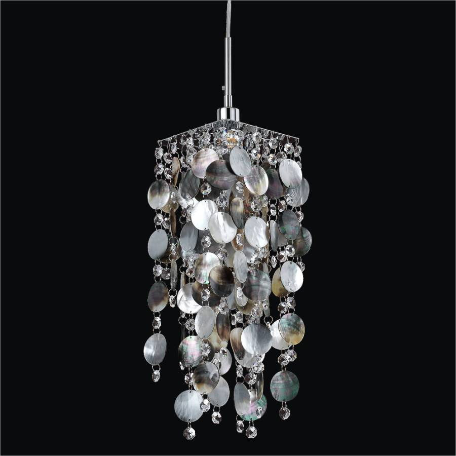Shell Mini Pendant Light | Cityscape 598P by GLOW Lighting