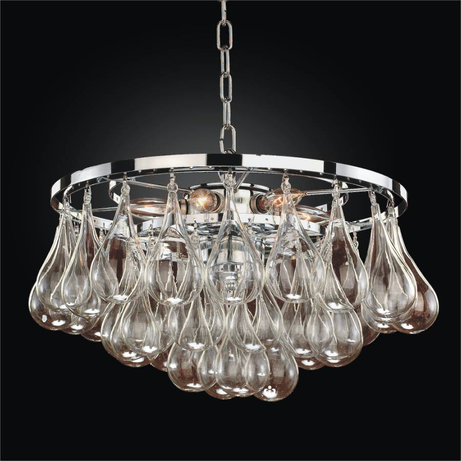 Blown Glass Modern Pendant Chandelier